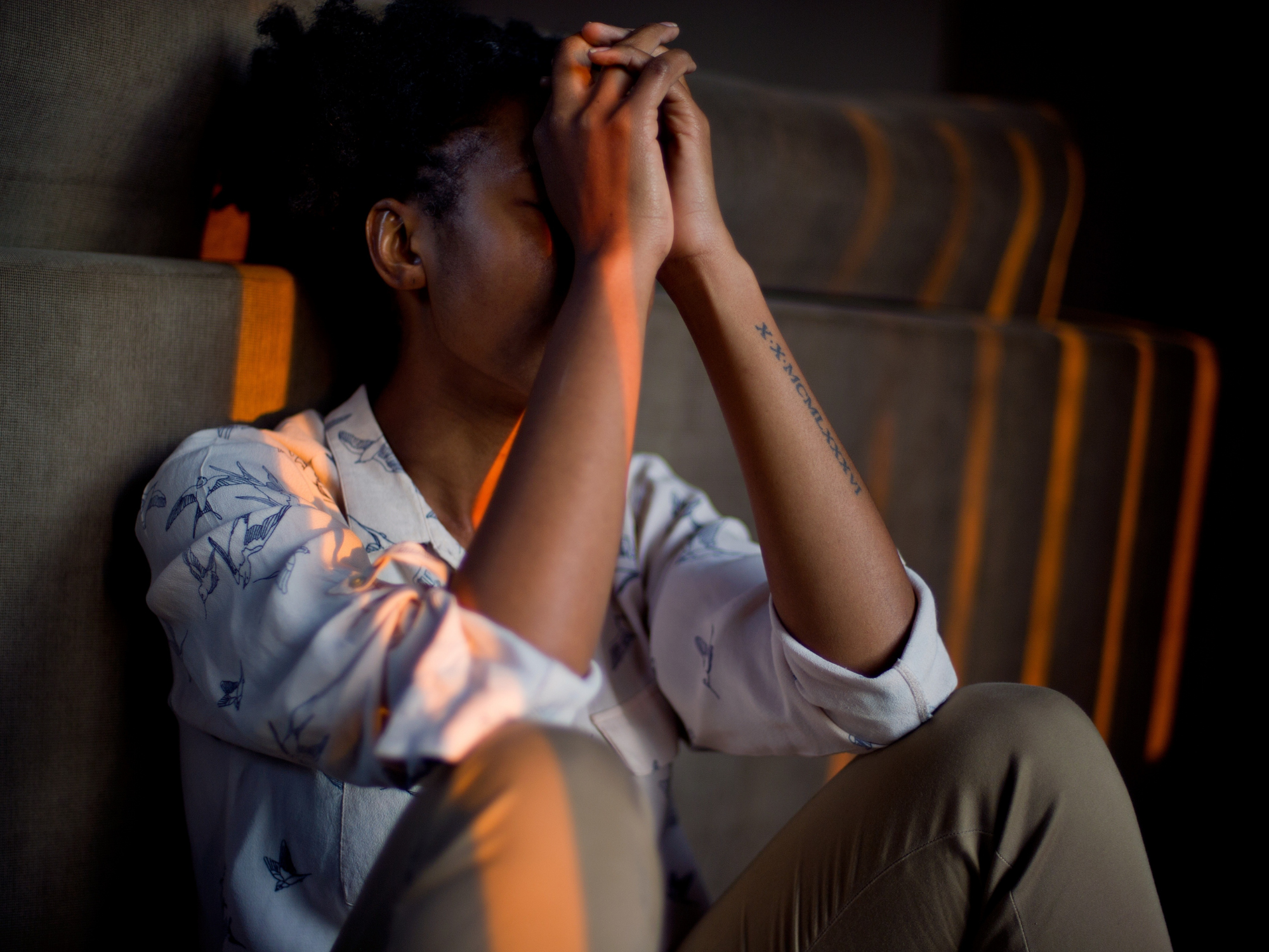 woman dealing with difficult time
